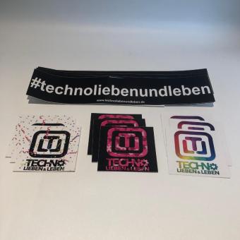 Techno Lieben & Leben Sticker Set