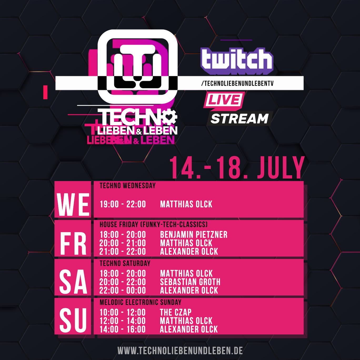 14. - 18. July Twitch Livestream