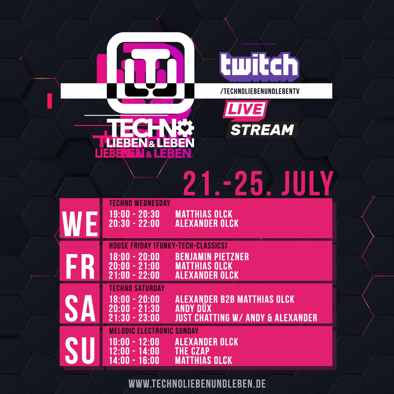21. - 25. July Twitch Livestream