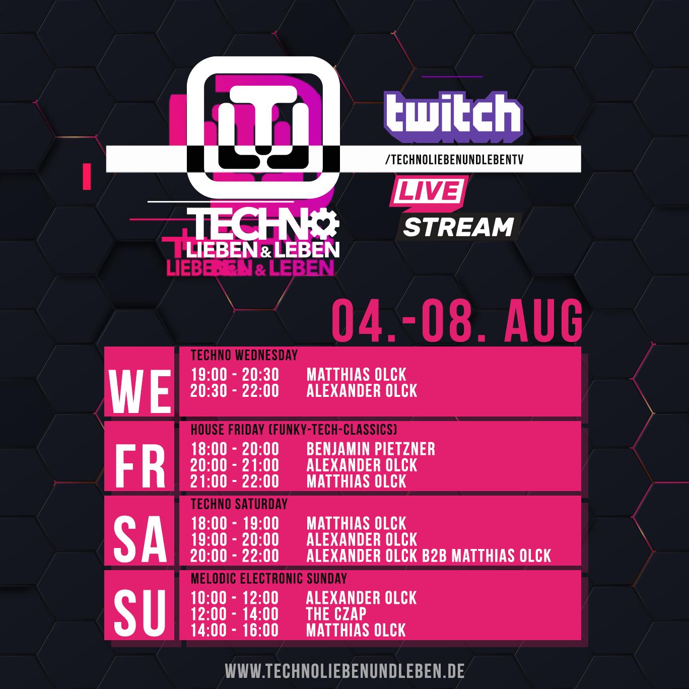 04. - 08. August Twitch Livestream